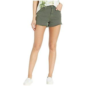 FADED GLORY Army Green High Rise Cut Off Shorts